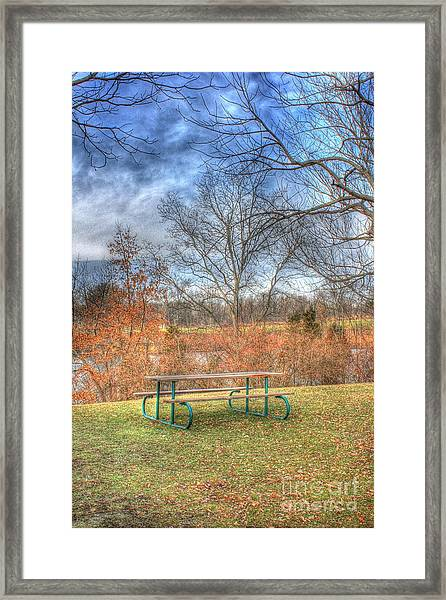 Picnic Table Framed Print
