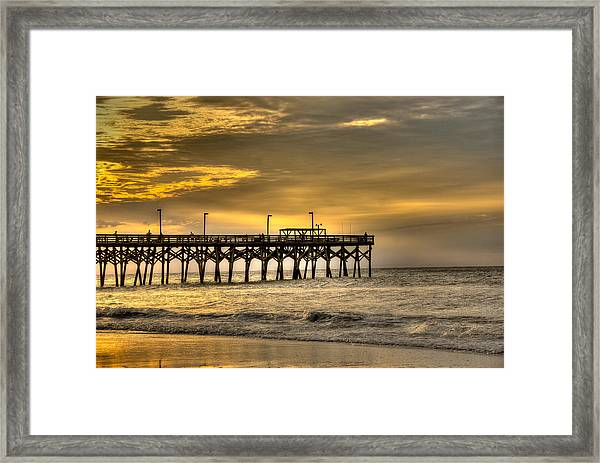 Framed Print featuring the photograph Pier by Francis Trudeau