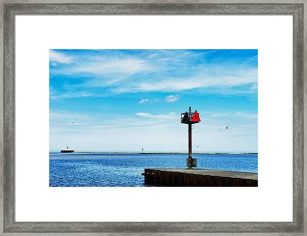 Pier Six Framed Print