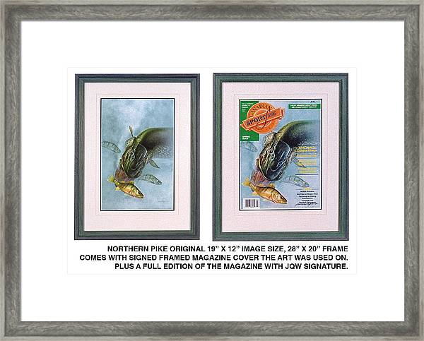 Pike Fishing Original And Magazine Framed Print