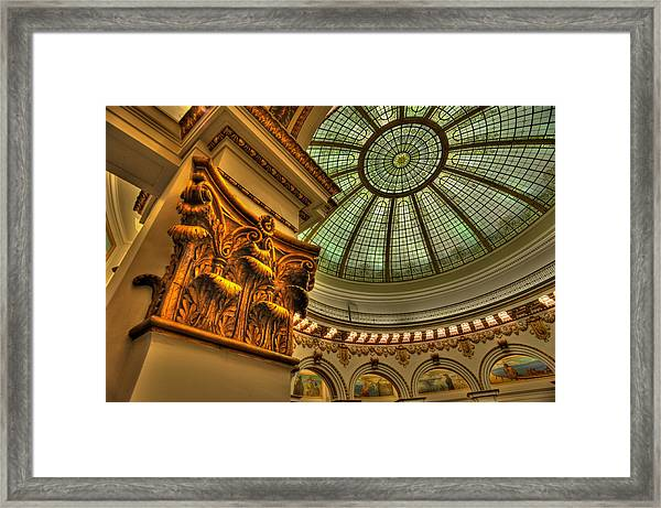 Pillar And Dome Framed Print