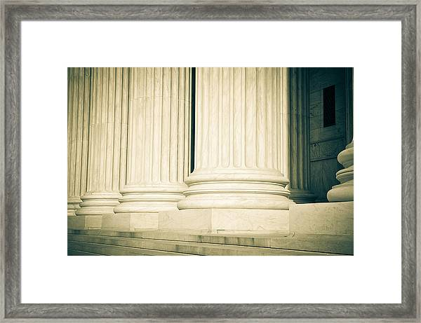 Pillars Of Law And Justice Us Supreme Court Framed Print
