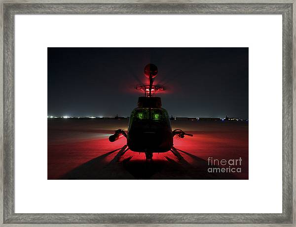 Pilots Prepare For Takeoff In An Oh-58d Framed Print