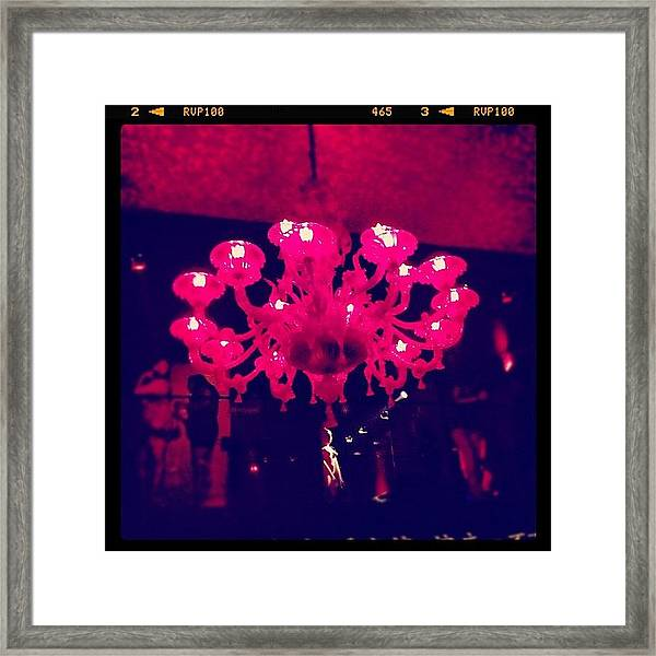 #pink #light Framed Print