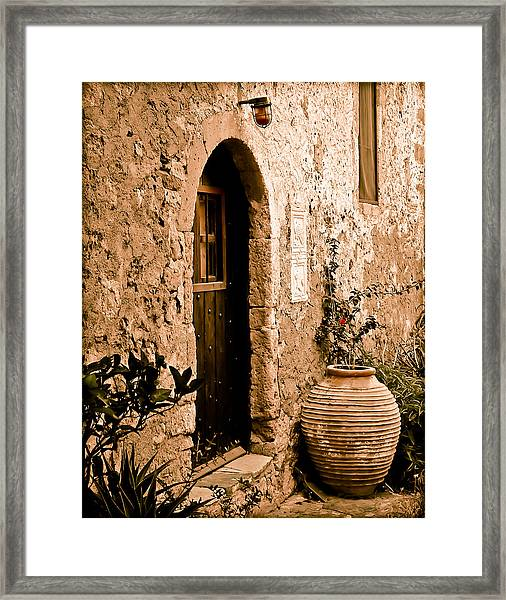 Monemvasia, Greece - Pithos Framed Print
