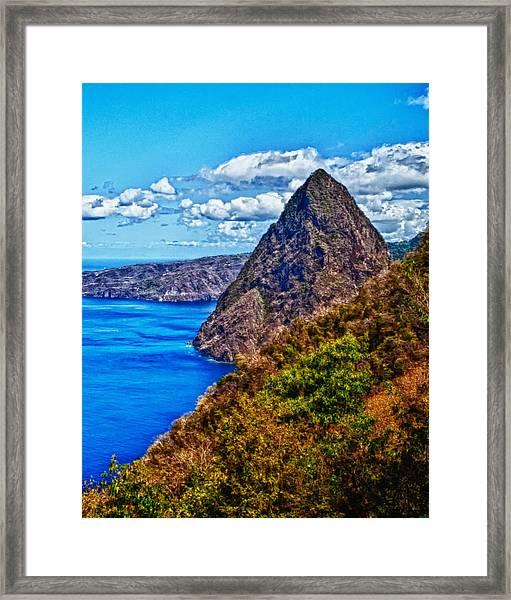 Pitit Piton St. Lucia Framed Print