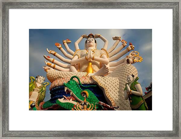 Plai Laem Buddha Framed Print