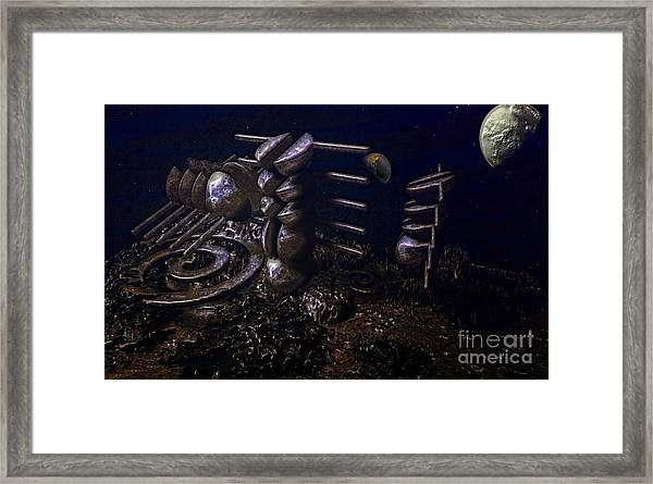 Planet Explorerstation Framed Print by Jan Willem Van Swigchem