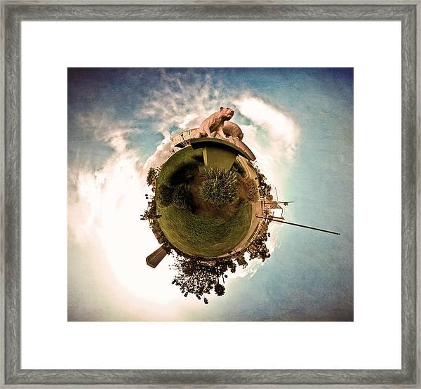 Planet Lioness Framed Print