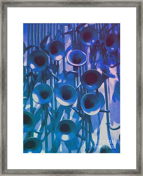 Play N The Blues Framed Print