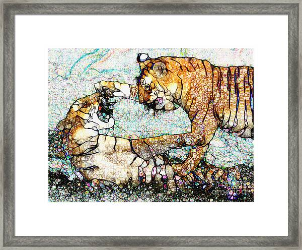 Playing Bengals Framed Print