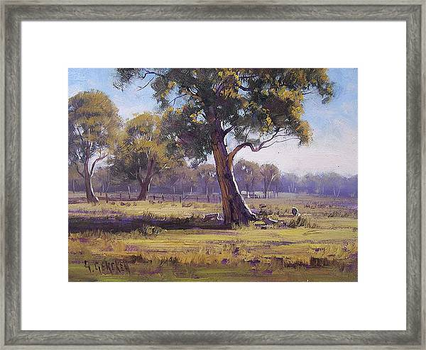 Plein Air Painting Framed Print