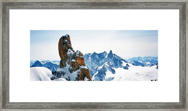 Pointing To The Sky Framed Print