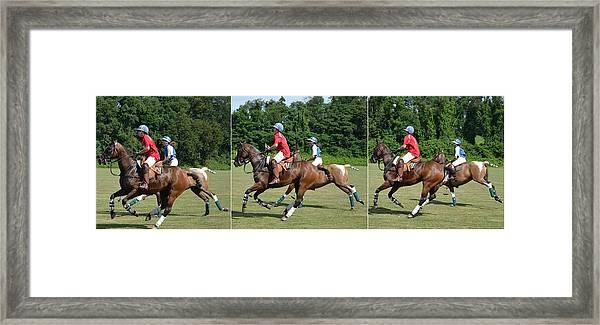 Polo Game Framed Print