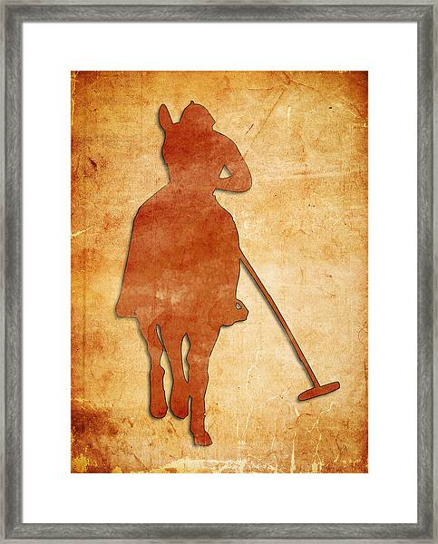 Polo Framed Print