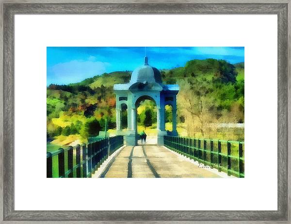 Ponte Sul Lago Di Giacopiane Framed Print