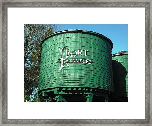 Port Gamble Framed Print