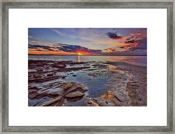 Port Stephens Sunset Framed Print