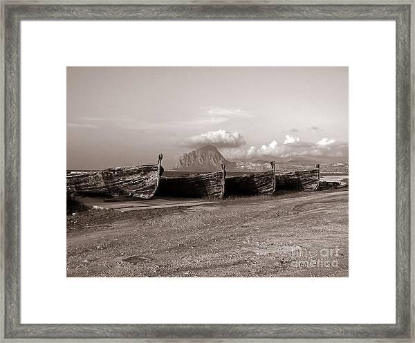 Old Port Of Trapani Framed Print