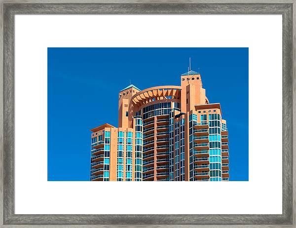 Portofino Tower At Miami Beach Framed Print