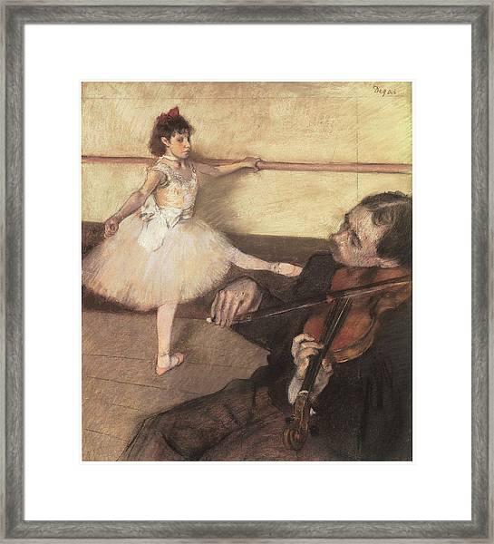 Portrait Of A Dancer At Her Lesson Framed Print