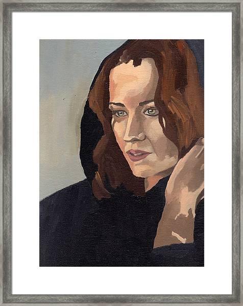 Portrait Of Becca 2 Framed Print