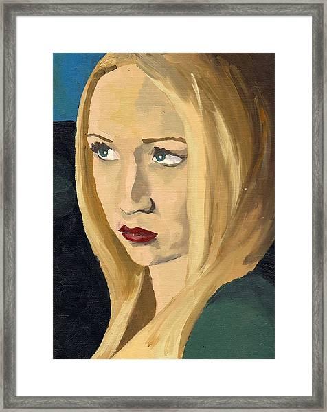 Portrait Of Emily Framed Print by Stephen Panoushek