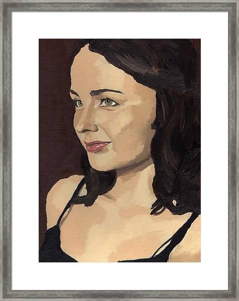 Portrait Of Solomia Framed Print