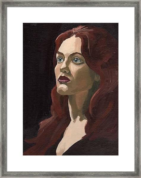 Portrait Of Virginia P Framed Print