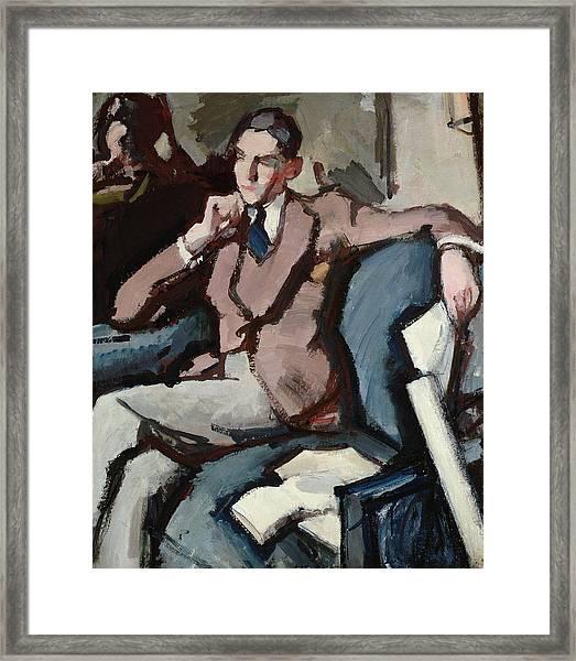 Portrait Of Willie Peploe Framed Print