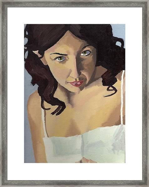 Portrait Of Zoe Framed Print