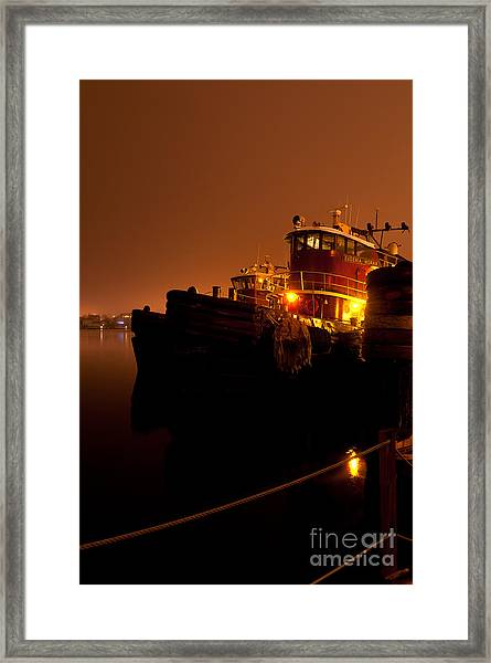 Portsmouth Tugs 1st Night Framed Print