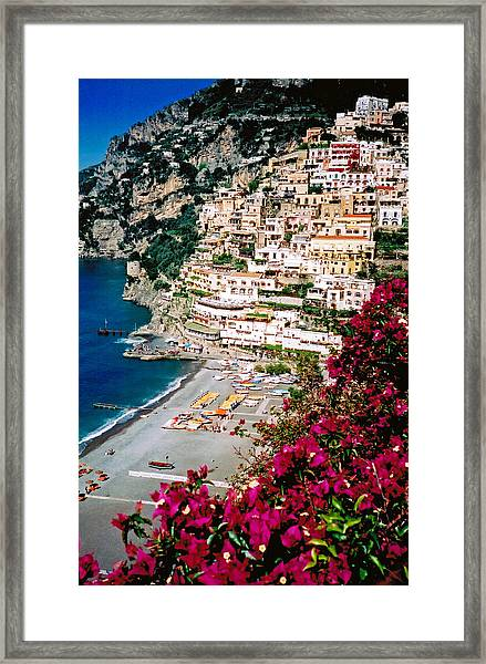 Positano Italy Beach Framed Print