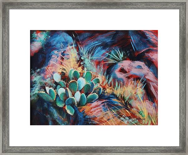 Positively Prickly Framed Print