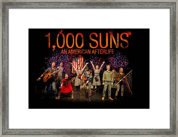 Poster For 1000 Suns - An American Afterlife Framed Print