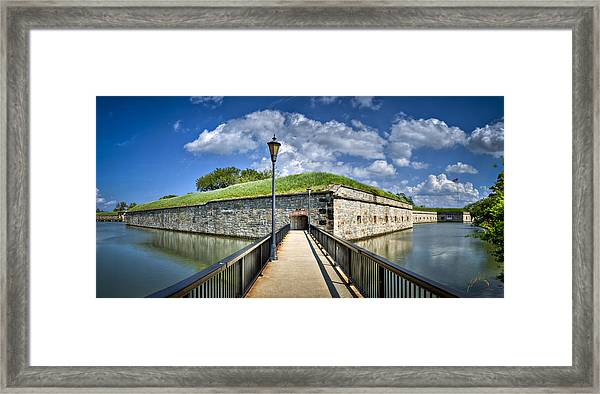 Framed Print featuring the photograph Postern Gate Bridge by Williams-Cairns Photography LLC