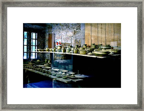 Framed Print featuring the photograph Pottery Land by HweeYen Ong