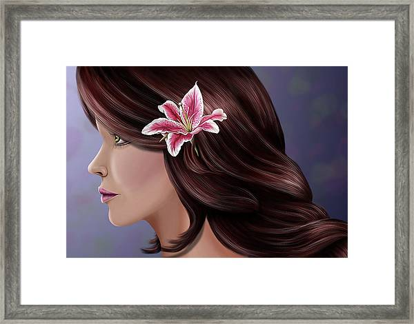 Pretty As A Lilly Framed Print