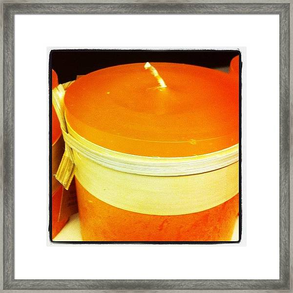 Pretty Candle Framed Print