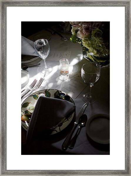 Framed Print featuring the photograph Pretty Place Setting by Lorraine Devon Wilke