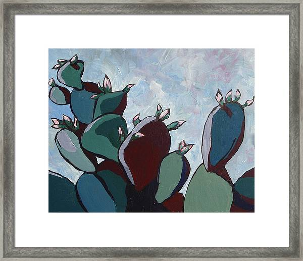 Prickly Pear Stand Framed Print