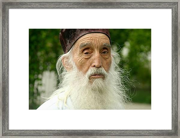 Priest At Ghighiu Monastery Framed Print
