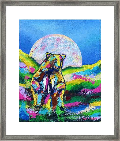 Psychedelic Bear Framed Print