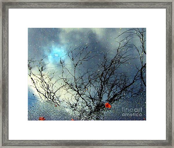 Puddle Art 2 Framed Print