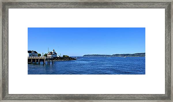 Puget Sound Light Hosue Framed Print