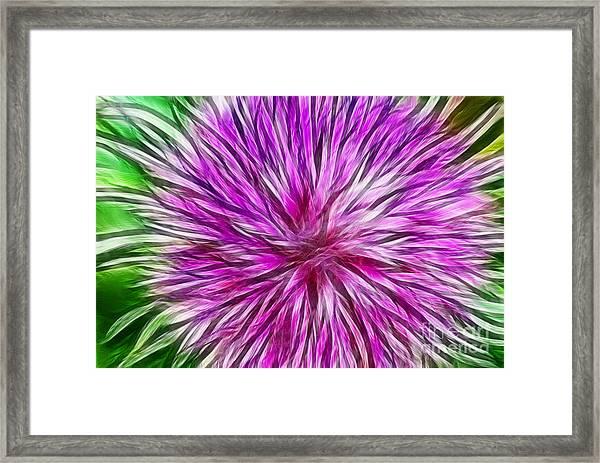 Purple Flower Fractal Framed Print
