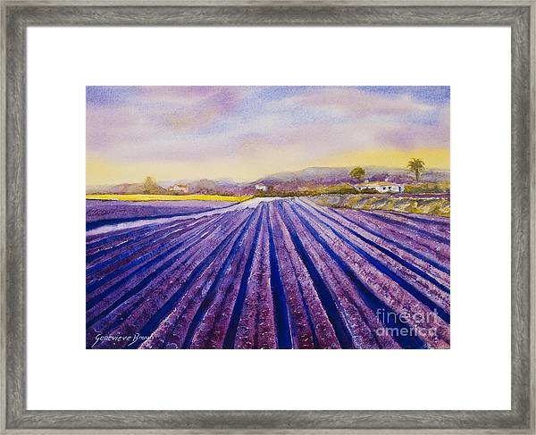 Framed Print featuring the painting Purple Spain by Genevieve Brown