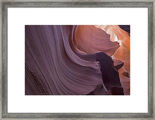 Purple Sweep Framed Print