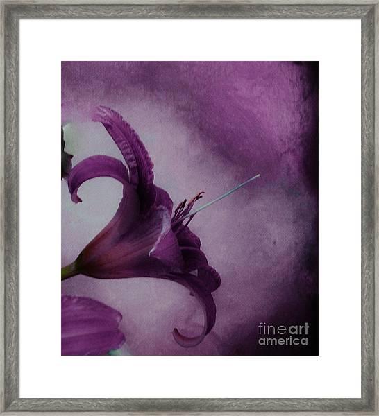 Purple Tiger Framed Print by Marsha Heiken