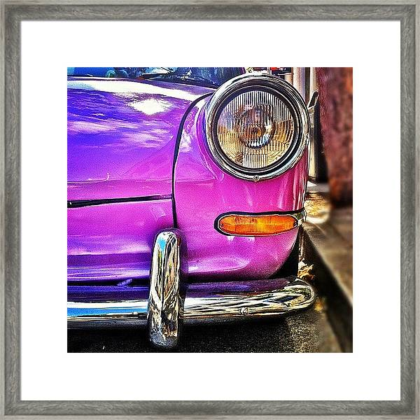 Purple Vw Bug Framed Print